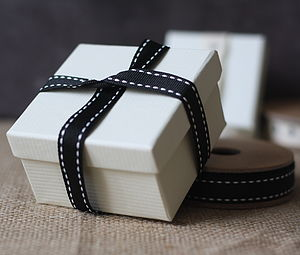 Cream Cardboard Gift Box - cards & wrap