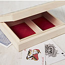 Personalised Playing Card Box For Him