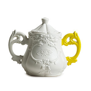 Baroque Style Porcelain Sugar Bowl