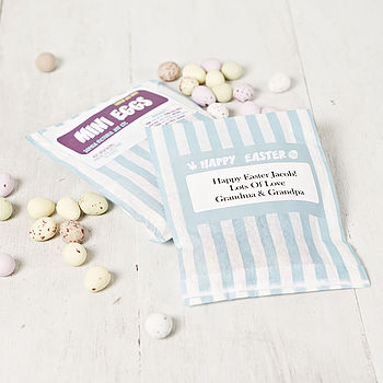 Personalised Bag Of Mini Eggs For Boys