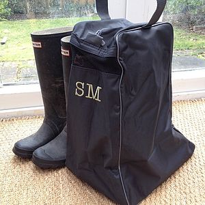 Personalised Wellington Boot Bag - laundry room