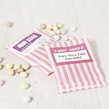 Personalised Bag Of Mini Eggs For Girls