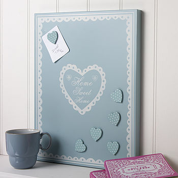 'Home Sweet Home' Magnetic Noticeboard