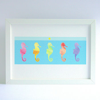 Childrens Room Seahorse Print