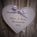 Personalised Rustic Wedding Heart
