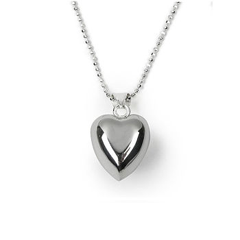 Silver Chiming Heart Necklace