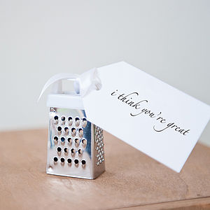 Personalised 'I Think You're Great' Mini Grater - love tokens