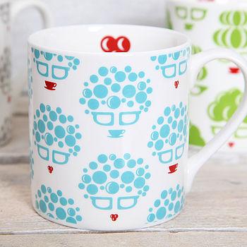 blue mug detail