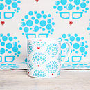 blue mug and tea towel