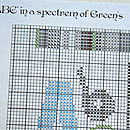 Baby 'ABC' cross stitch chart