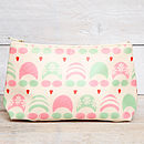green/pink make up bag