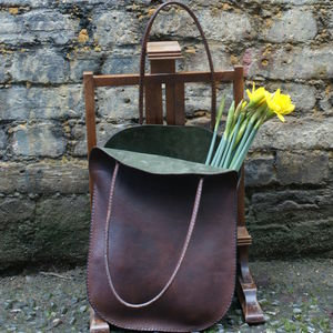 Handmade Leather Bag - mother's day gifts