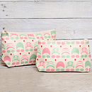 green/pink make up and wash bag (available separately )