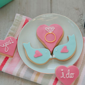 Engagement Or Wedding Biscuit Gift Box - biscuits
