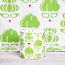 green tea towel and mug ( available separately)