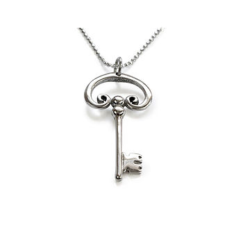 Wish Key Silver Necklace