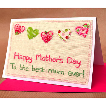 Bunting Personalised Mother's Day Card