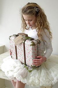 Vintage Style Floral Rose Suitcase - children's room accessories