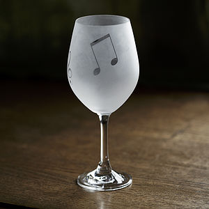 Music Note Wine Glasses - drink & barware
