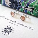 'Not All Who Wander…' Compass Cufflinks