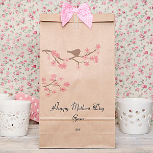 Personalised Cherry Blossom Tree Gift Bag - ribbon & wrap