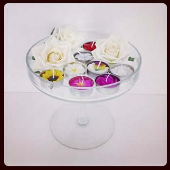 Handmade Floral Scented Tea Light Set