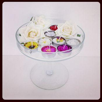 Handmade Floral Scented Tea Light Set