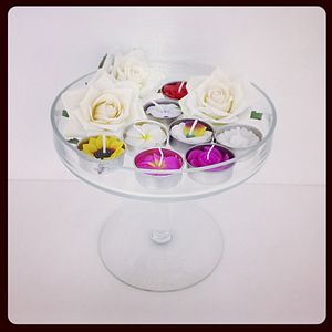 Handmade Floral Scented Tea Light Set - candles & candlesticks