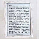 Declaration Personalised Poster Print For Mum
