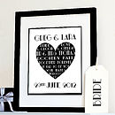 Personalised Art Deco Wedding/Anniversary Print