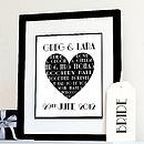 Personalised Art Deco Wedding Print