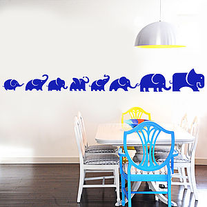 Elephant Family Wall Sticker Decal - children's room