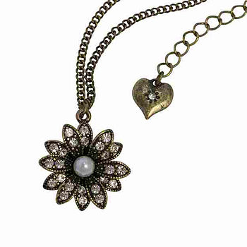 Astor Flower Crystal Necklace