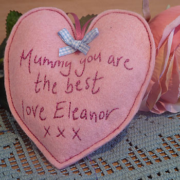 Personalised Mother's Day Heart Favour