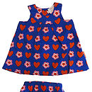 Thumb new heart flower baby dress pants set
