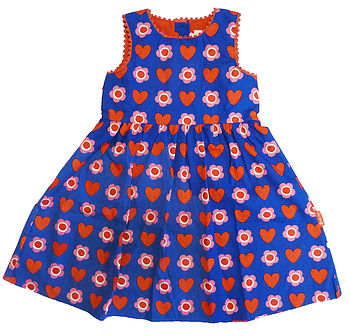 Heart Flower Print Party Dress