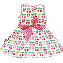 Cherry Flower Print Party Dress