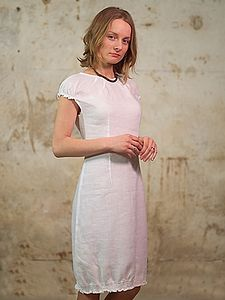Ruth Knee Length Linen Dress - dresses & skirts