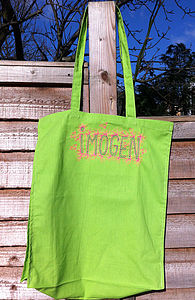Personalised Embroidered Art Bag
