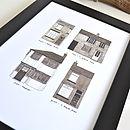 Beatles Childhood Homes Print