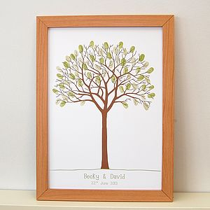 Personalised Thumbprint Tree - personalised wedding gifts
