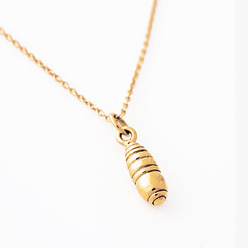 Gold Cocoon Pendant Necklace