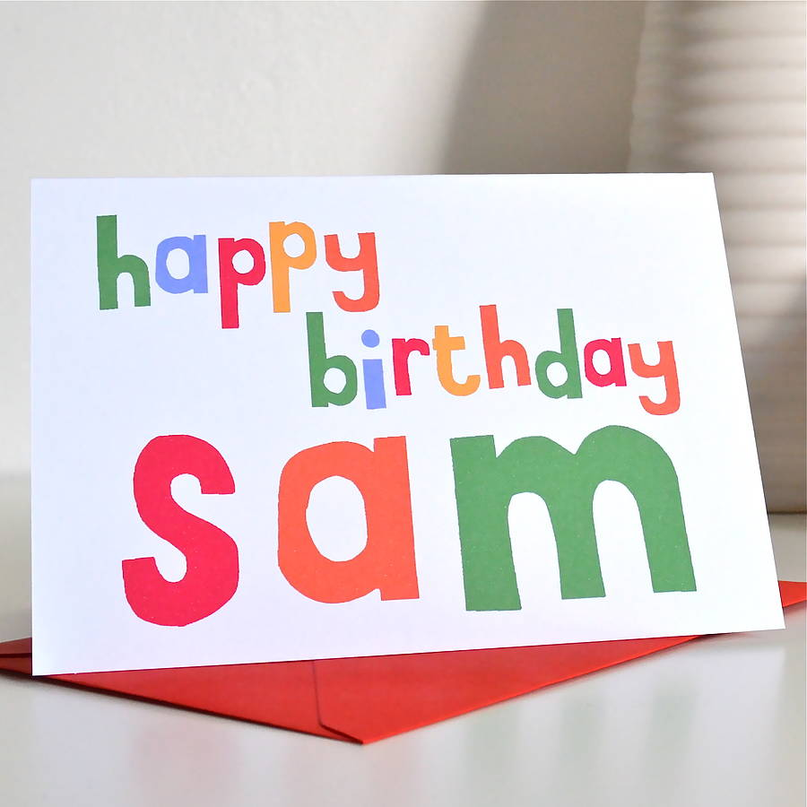 personalised happy birthday card by becka griffin illustration