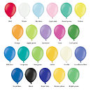 Balloon colours