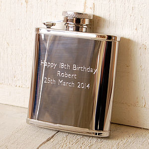 Personalised Pocket Hip Flask - food & drink gifts