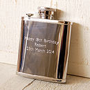 Personalised Pocket Hip Flask