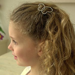 Child's Diamante Hair Clip - bridesmaid accessories