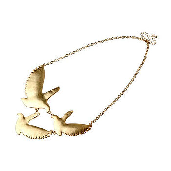 Trio Bird Necklace