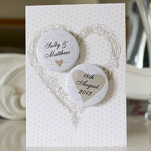 Personalised Mini Magnets Wedding Card - wedding stationery