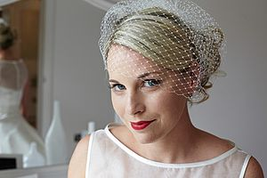 Classic Handmade Birdcage Veil - hair accessories